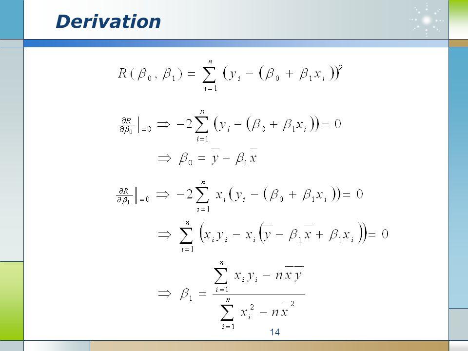 Derivation 14