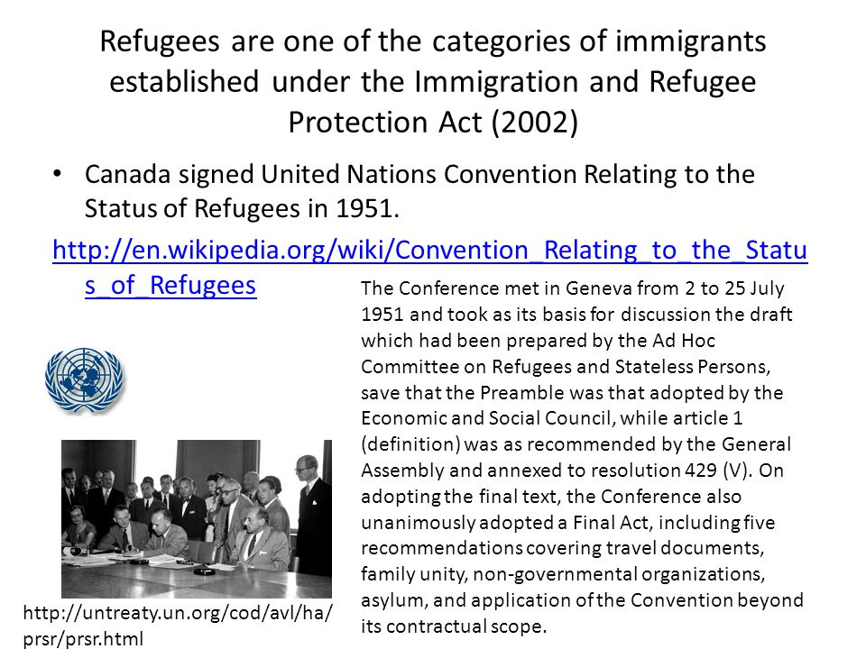 Refugee Shelter During the 50s and 60s, Canada offered to shelter refugees in response to specific world crises.