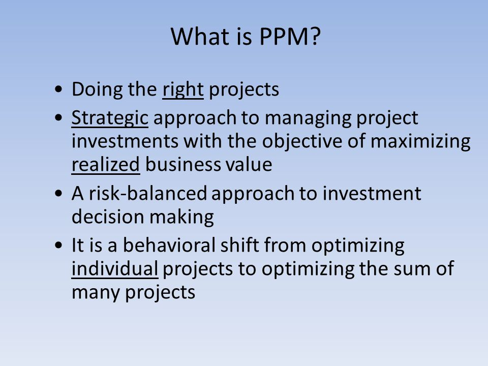 What is PPM.