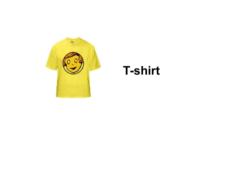 It is a T - shirt.Its yellow. Its 6 dollars. Do you like it.