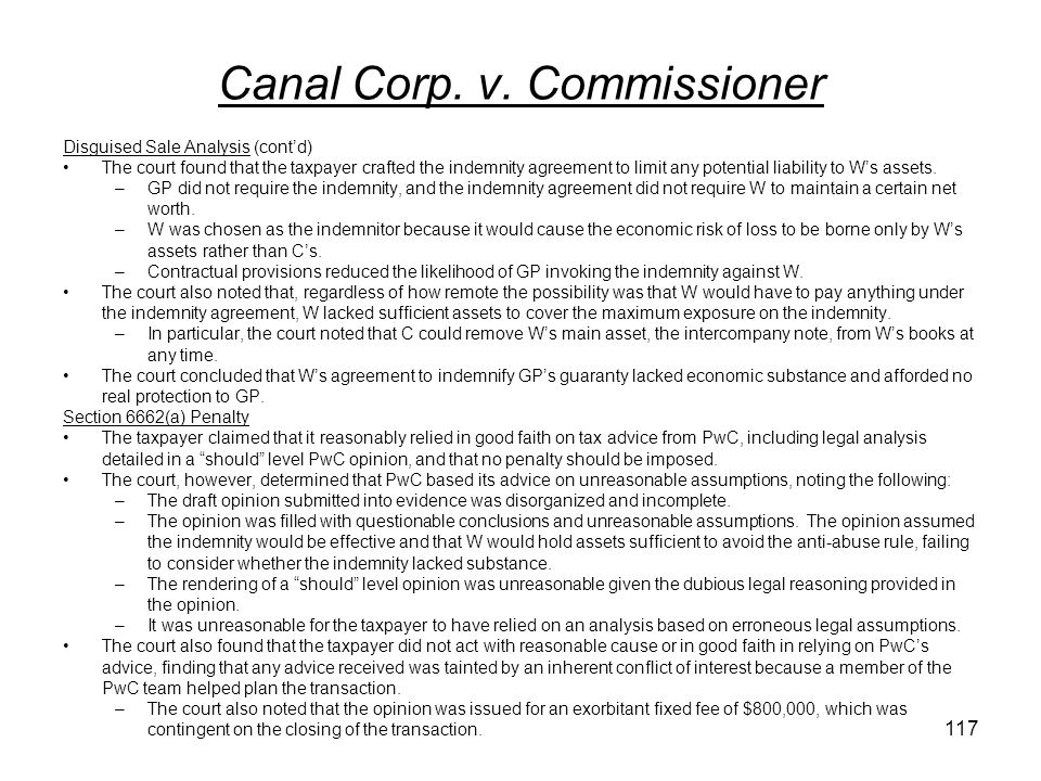 Canal Corp.v.