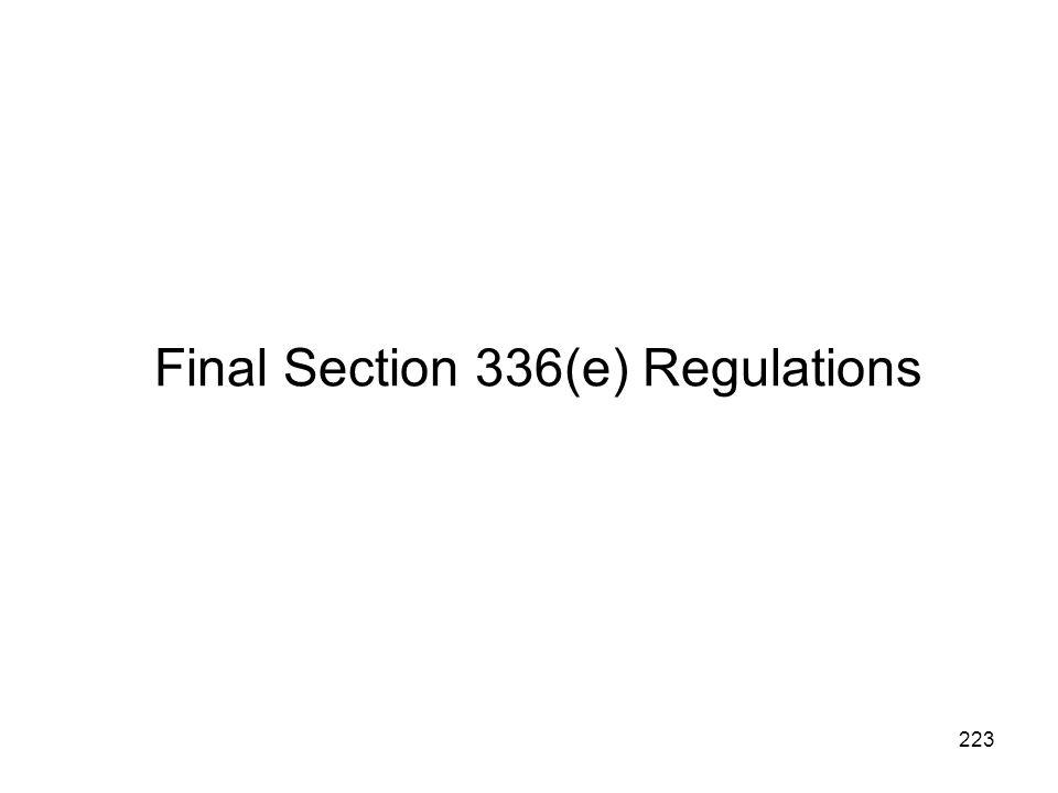 Final Section 336(e) Regulations 223