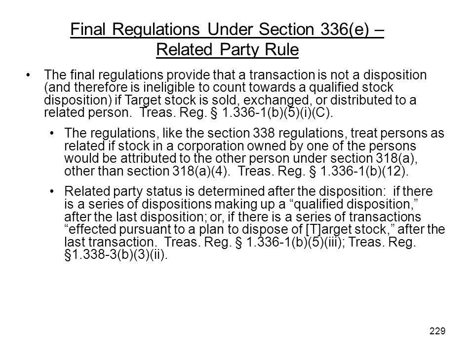 The final regulations provide that a transaction is not a disposition (and therefore is ineligible to count towards a qualified stock disposition) if