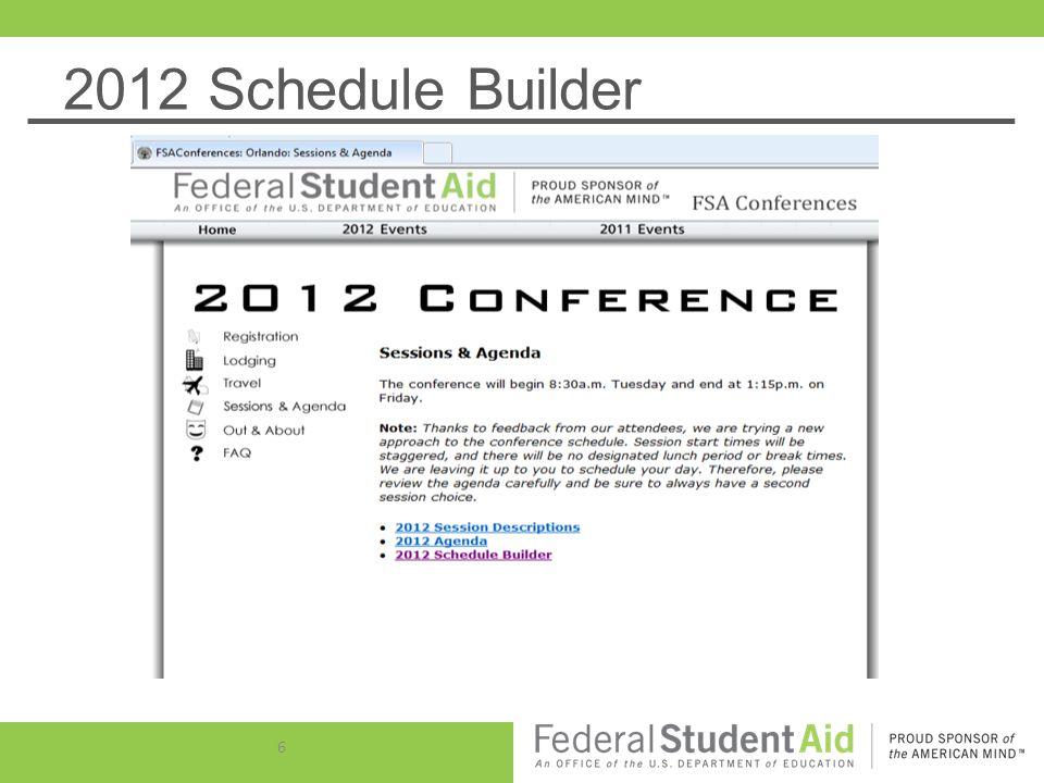 2012 Schedule Builder 6