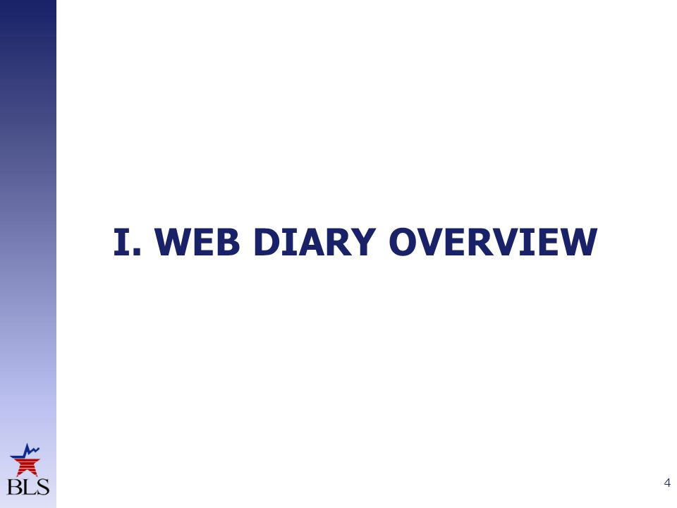 I. WEB DIARY OVERVIEW 4