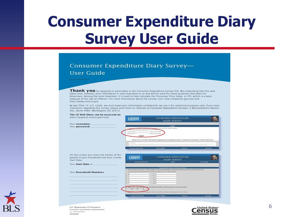 Consumer Expenditure Diary Survey User Guide 6