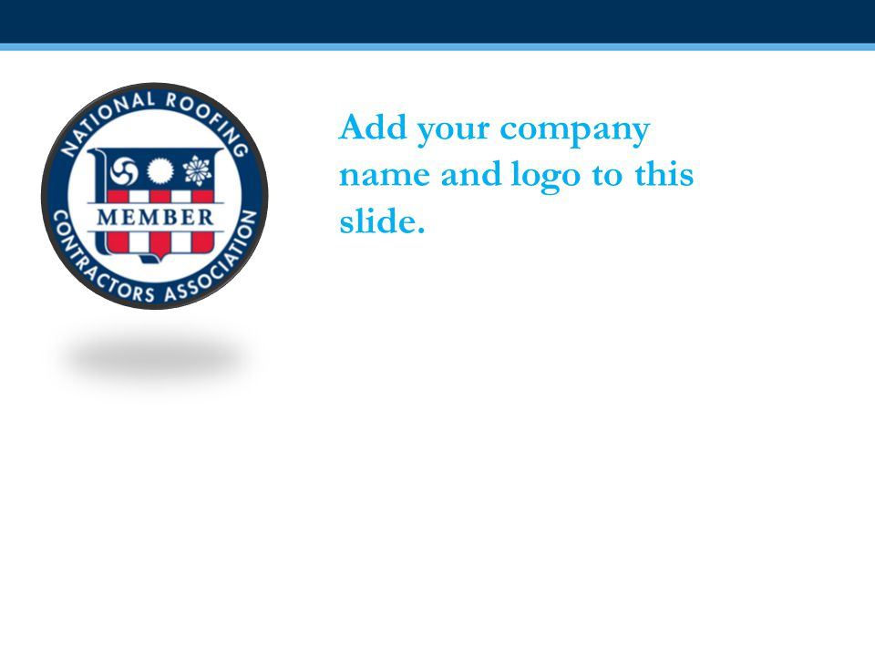 Add your company name and logo to this slide.