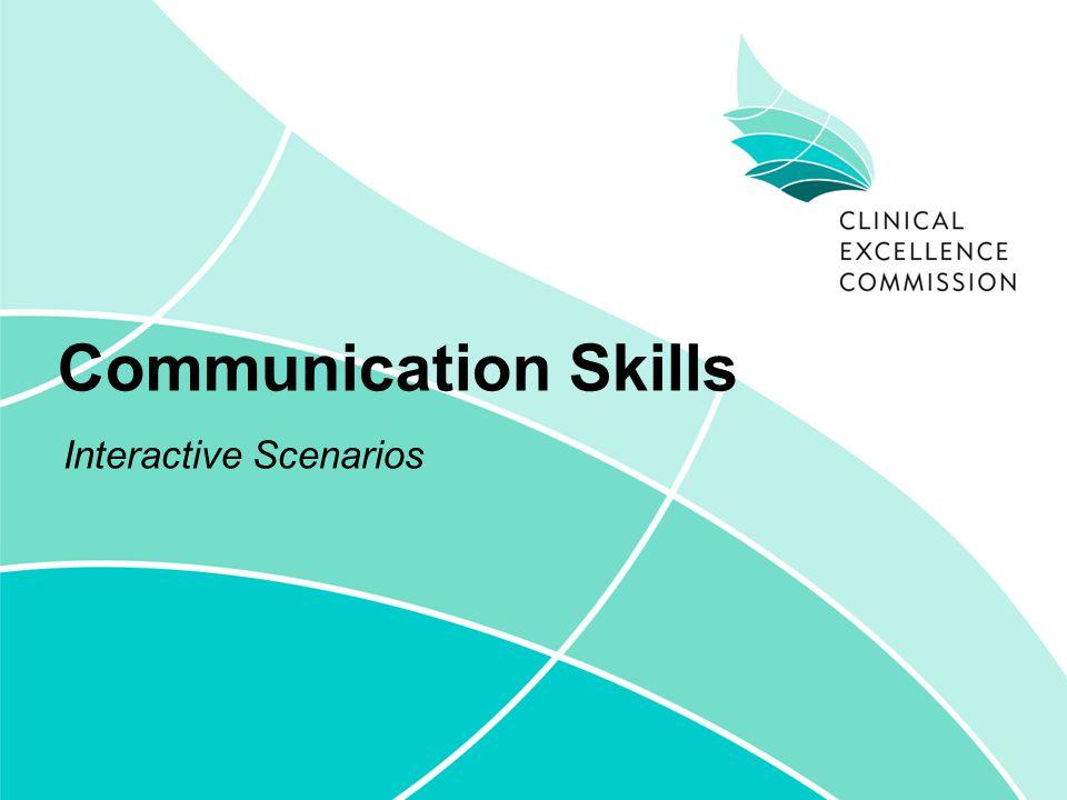 Communication Skills Interactive Scenarios