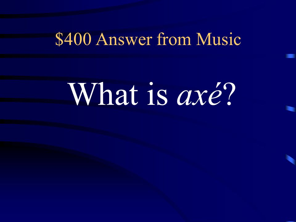 $400 Question from Music This high energy music is popular in the Northeast.