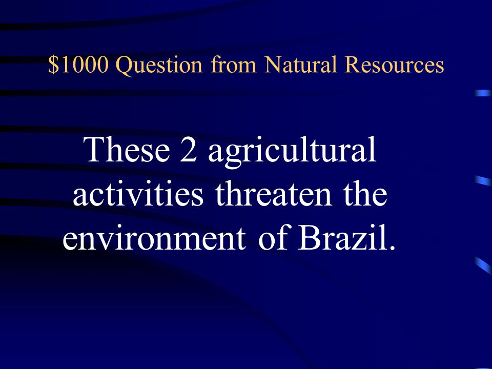 $800 Answer from Natural Resources What is sugar cane