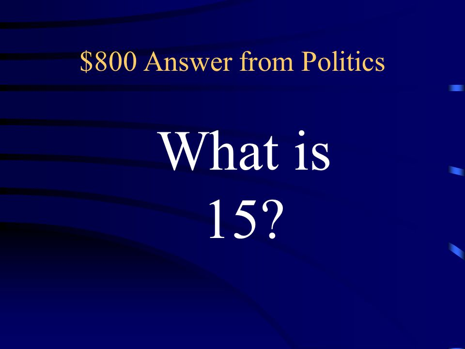 $800 Question from Politics This number of political parties are represented in the Brazilian Congress.