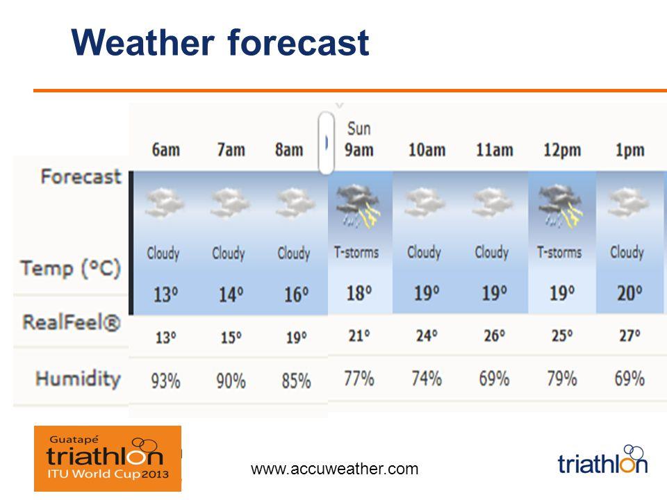 Weather forecast Saturday24ºC Sunday24ºC www.accuweather.com
