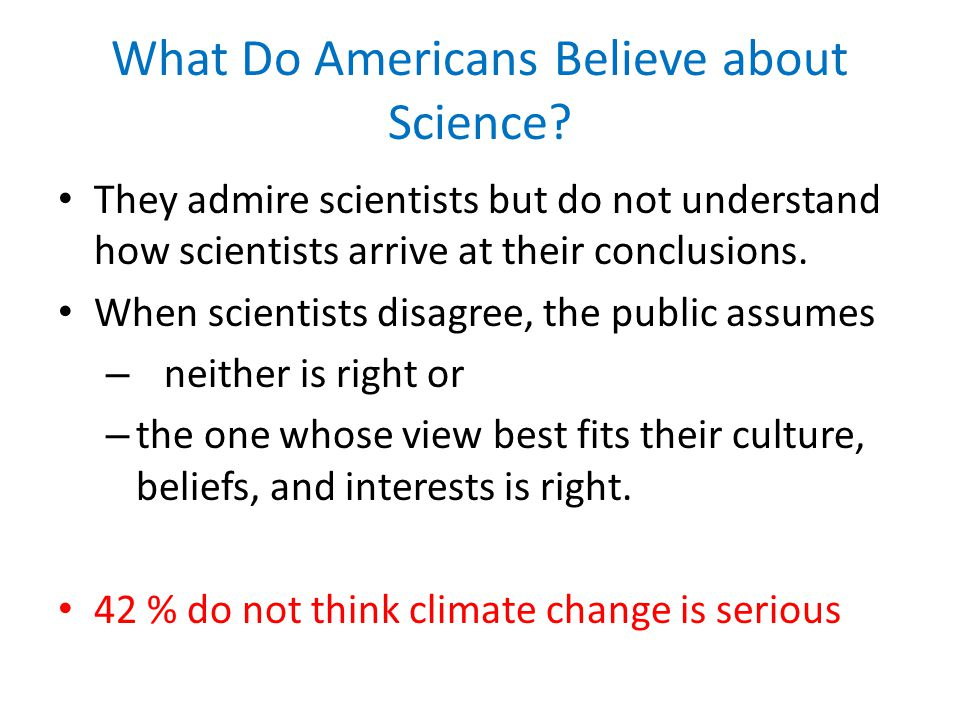What Do Americans Believe about Science.