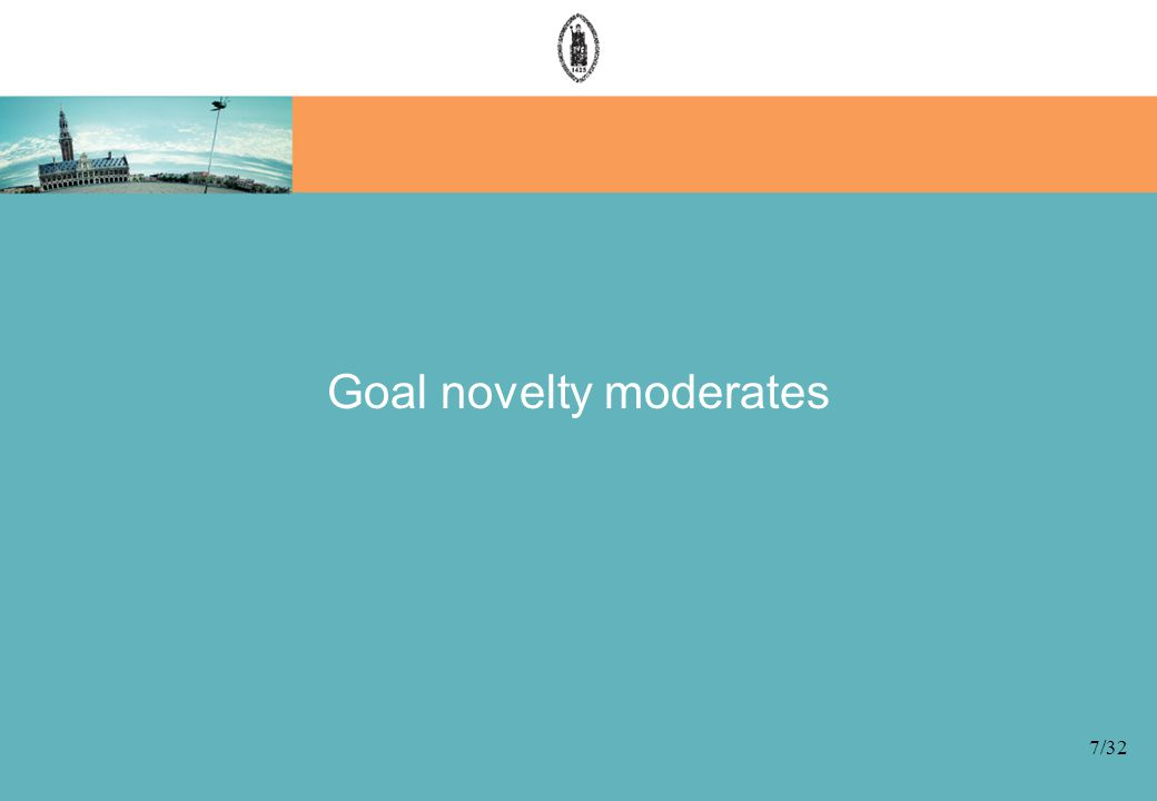 Goal novelty moderates 7/32