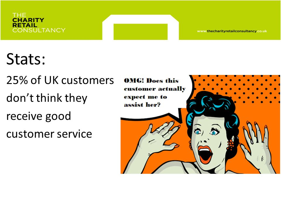 Museum retail customer service Stats: 25% of UK customers dont think they receive good customer service
