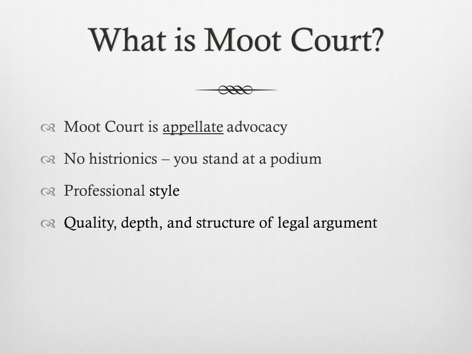 Basic Argument StructureBasic Argument Structure Facts (Appellant/Petitioner only): Would the court care for a brief recitation of the facts.