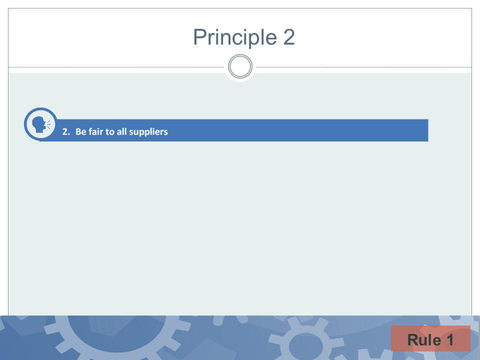 Principle 2 Rule 1