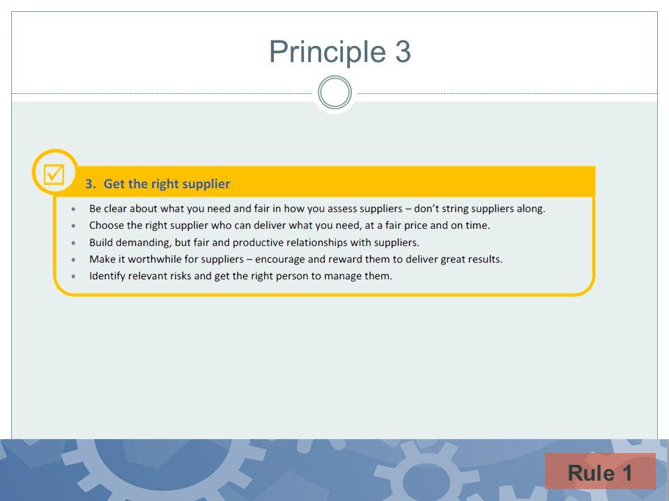 Principle 3 Rule 1