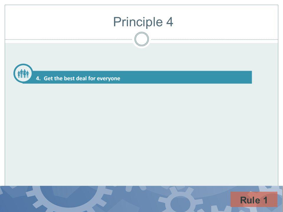 Principle 4 Rule 1