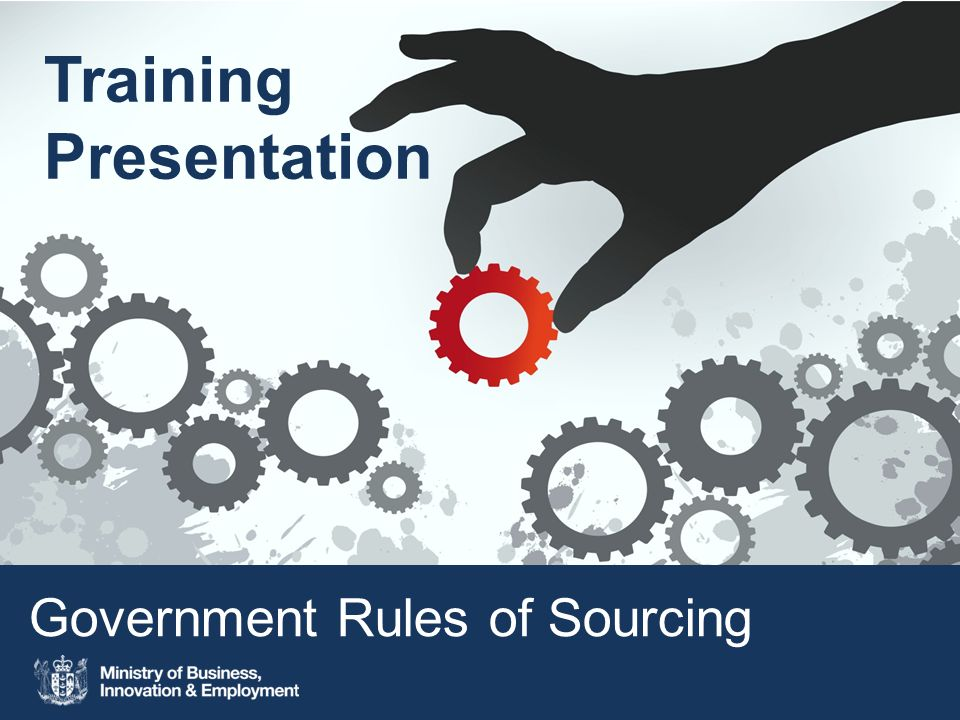 Government Rules of Sourcing Training Presentation