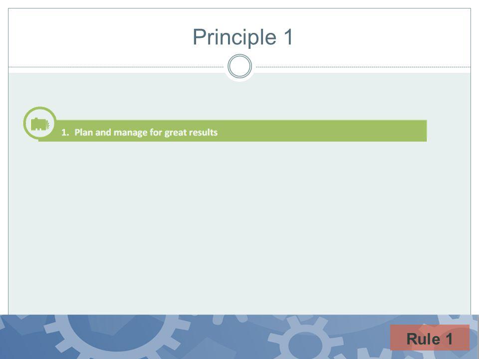 Principle 1 Rule 1