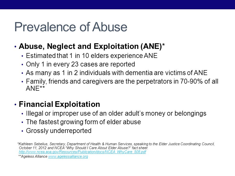 Financial Exploitation in Long-Term Care Facilities