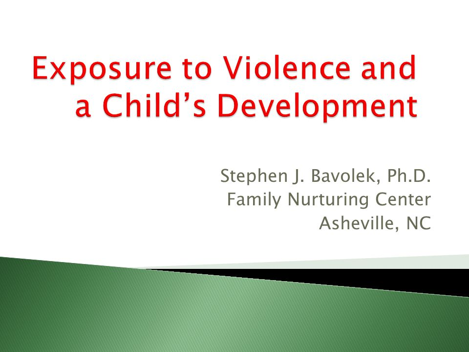 Stephen J. Bavolek, Ph.D. Family Nurturing Center Asheville, NC