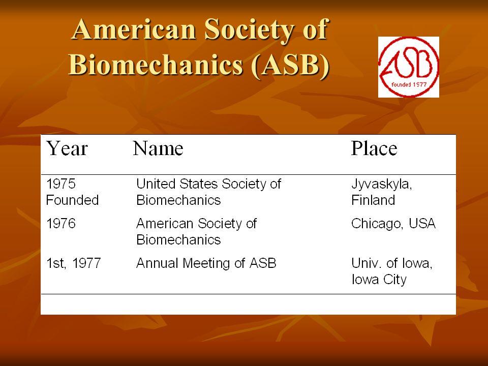 American Society of Biomechanics (ASB)