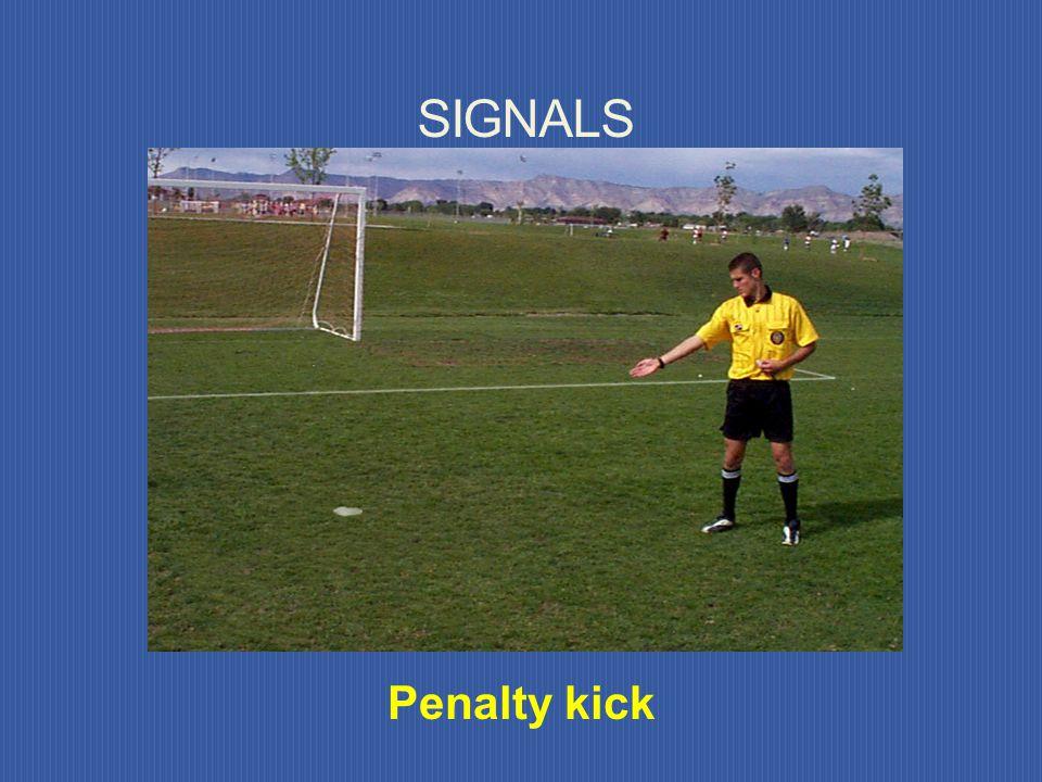SIGNALS Goal kick Corner kick