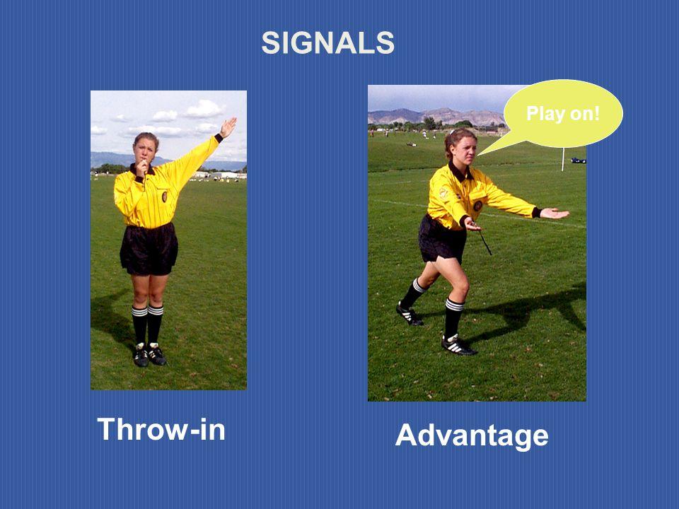 Indirect free kick Direct free kick SIGNALS