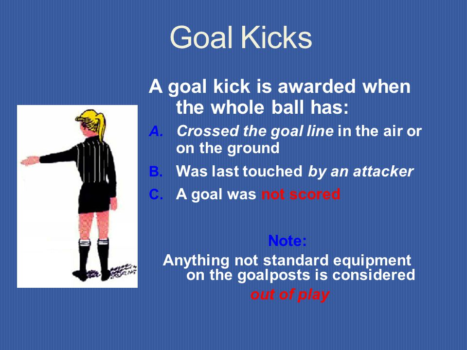 But.… use Common Sense! Cautioned they are Cautioned for unsporting behavior and shown the yellow card. INFRACTION BY OPPONENT If an opponent unfairly