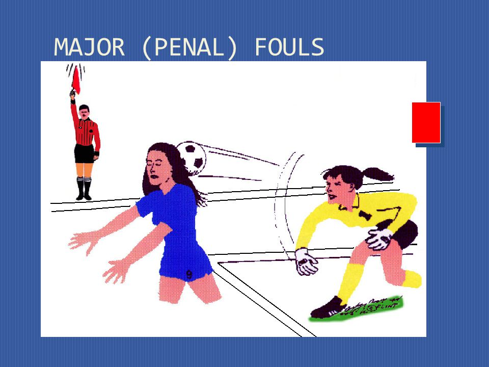 Strikes or attempts to strike an opponent MAJOR (PENAL) FOULS