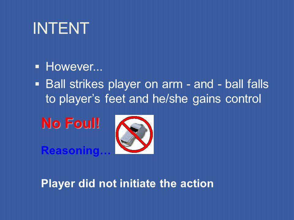 Handles the ball deliberately MAJOR (PENAL) FOULS