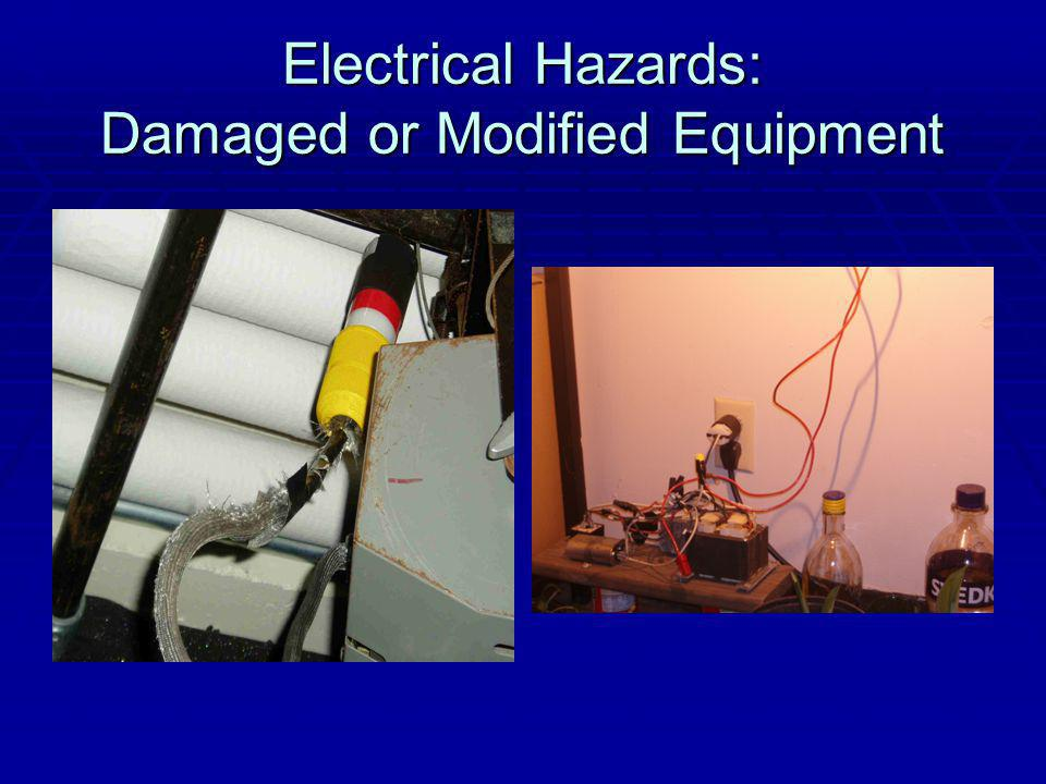 Electrical Hazards: Damaged or Modified Equipment