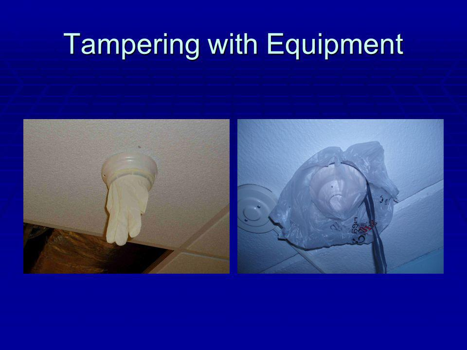 Tampering with Equipment