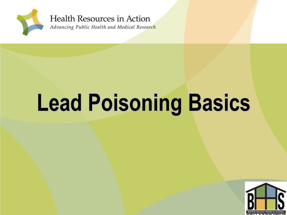 Lead Poisoning Basics
