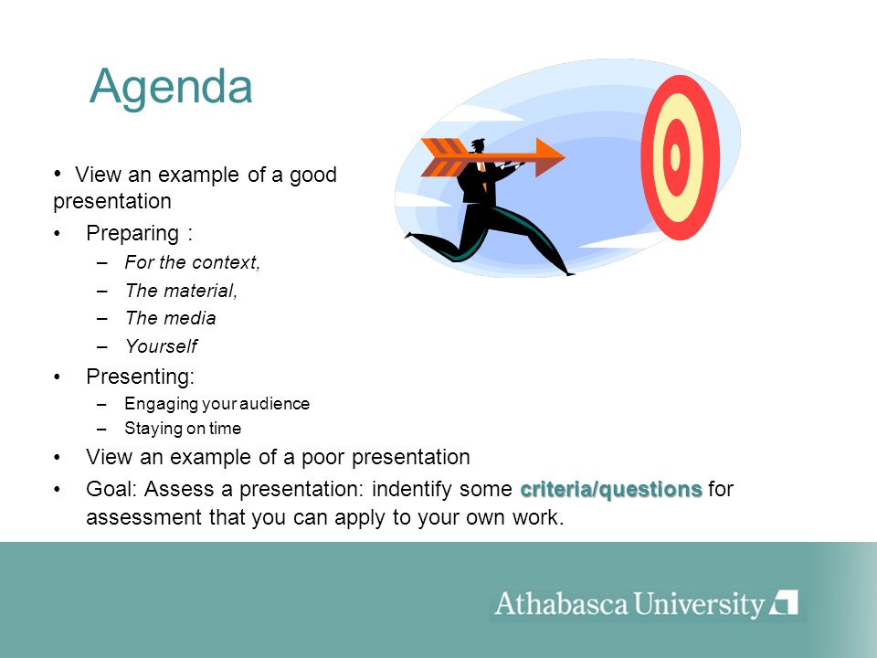 Reflection: What makes this a good presentation.
