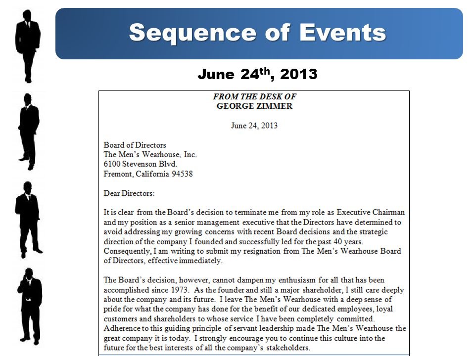 Sequence of Events June 24 th, 2013