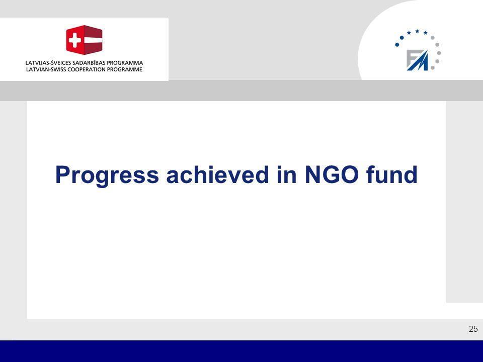 Progress achieved in NGO fund 25