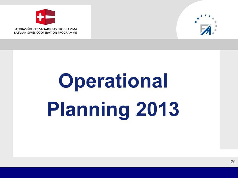 29 Operational Planning 2013