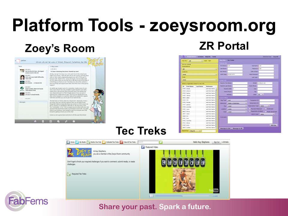 Platform Tools - zoeysroom.org Zoeys Room ZR Portal Tec Treks