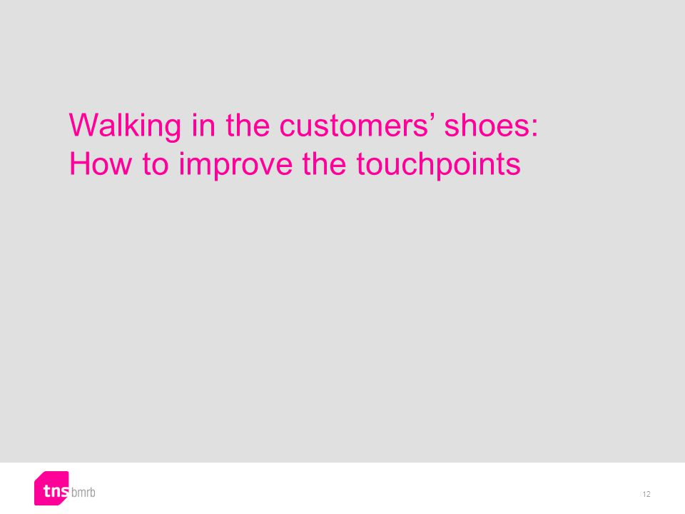 Walking in the customers shoes: How to improve the touchpoints 12