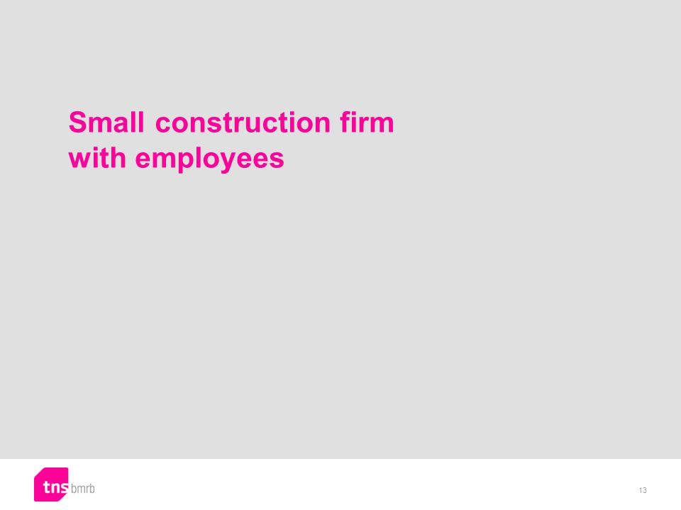 Small construction firm with employees 13