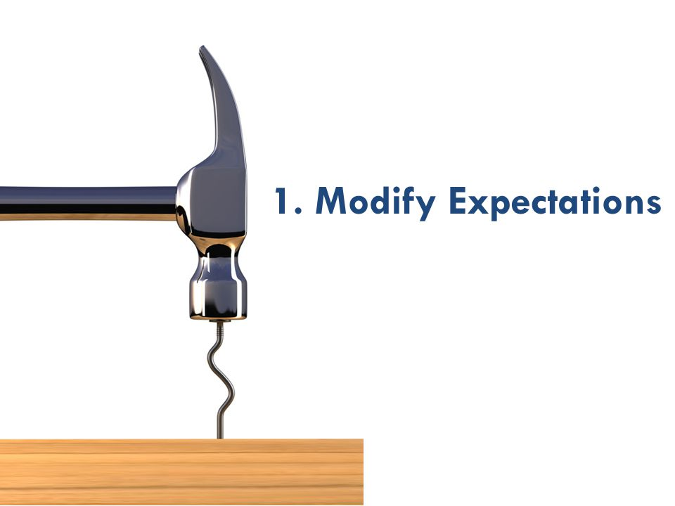 1. Modify Expectations 29