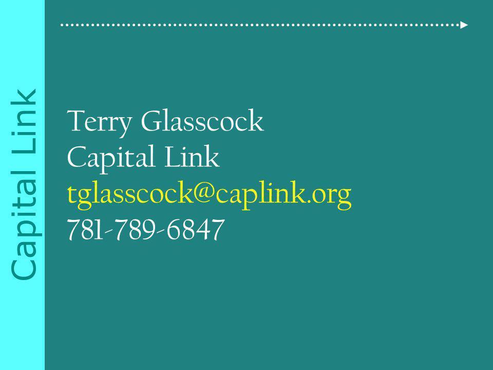 Capital Link Terry Glasscock Capital Link tglasscock@caplink.org 781-789-6847