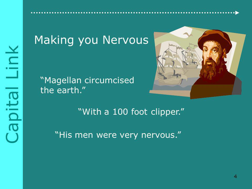 Capital Link Making you Nervous Magellan circumcised the earth.