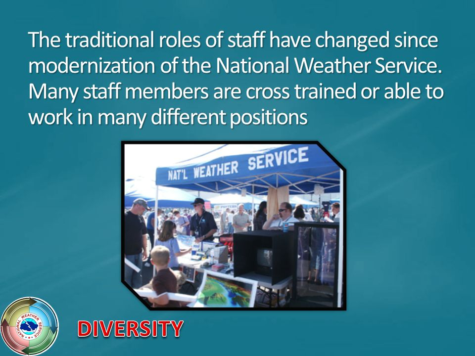 The traditional roles of staff have changed since modernization of the National Weather Service.