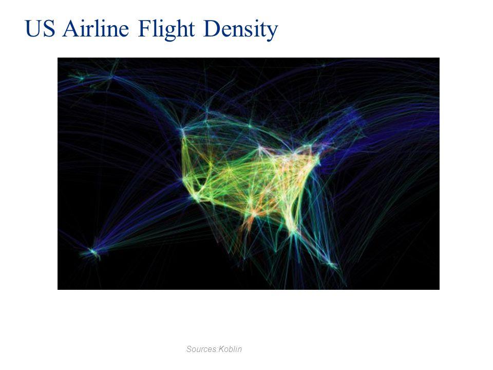US Airline Flight Density Sources:Koblin