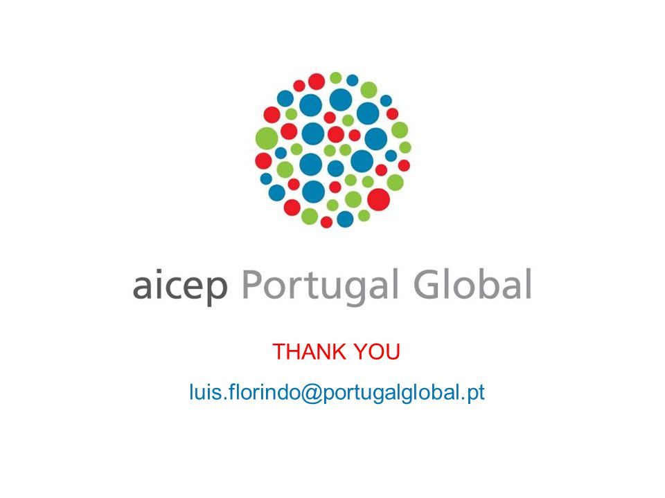 THANK YOU luis.florindo@portugalglobal.pt