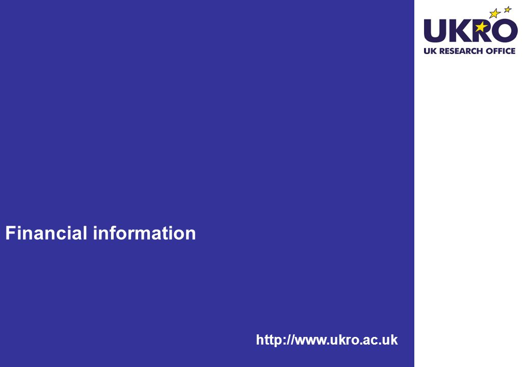 http://www.ukro.ac.uk Financial information